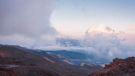 Uitzicht vanaf vulkaan Etna Italie