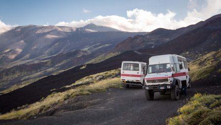 vervoer naar de top van Etna
